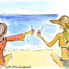 Beach. Bikini. BFF. Cheers to a #SummerinLilly #Lilly5x5