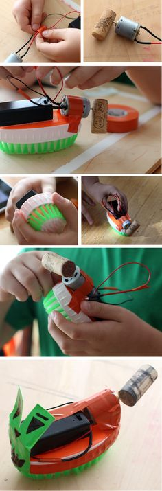 """Building a Halloween Brushbot: Family Robotics"": Brushbot introductory #robotics activity is a great family #science project. Customize your brushbot to give it extra personality! [Source: Science Buddies, http://www.sciencebuddies.org/blog/2014/10/building-a-halloween-brushbot-family-robotics.php?from=Pinterest] #scienceproject #familyscience #brushbot"