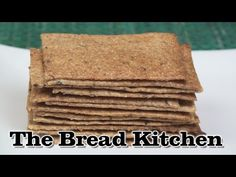 Thin and Crispy Rye Crackers Recipe in The Bread Kitchen - YouTube