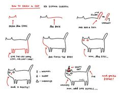 How to draw a cat  Gemma Correll