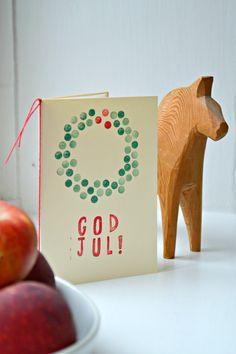 Weihnachtskarte God Jul selbermachen