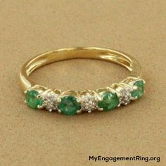 14k gold emerald and diamond engagement ring - My Engagement Ring