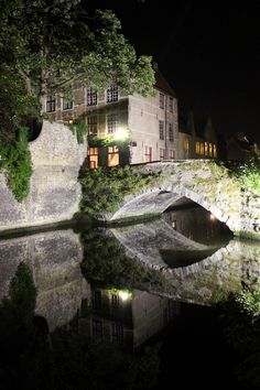 Bruges at night, Flanders   Belgium        Photo taken by me (travelingcolors)