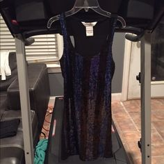 Blue and black sparkly dress Blue and black sparkle front dress with jersey material back. Worn once to a sweet 16. No damages or stains of any kind. Dresses Midi