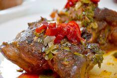 Friptură de miel cu dulceaţă de ardei iuţi. Meatloaf, Steak, Pork, Homemade, Paradis, Honey, Marmalade, Green, Kitchens