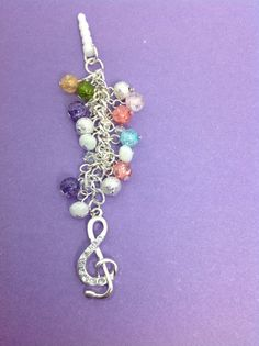 Music Note cell phone charm phone charm dust by PmBSparklesLinks, $12.00