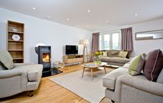 Tresillian , stunning spacious house by the beach with lush garden and sea views - UPDATED 2020 - Holiday Rental in Sennen - Tripadvisor Holiday Search, Stone Cottages, Lush Garden, Property Search, Lodges, Living Area, Trip Advisor, Couch, Bedroom