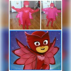 My granddaughter as Owlette from PJ mask ... Took me about 2-3days to complete ..