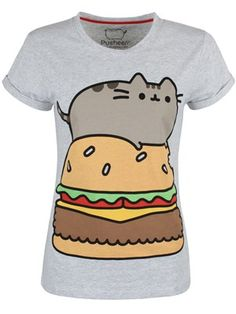 What started as an innocent emoji has turned into a much-loved character! This internet famous rolly cat is now known for his adorable face and love for fast food! Show your love for Pusheen the cat with this awesome tee that sees the feline relaxing on an enormous burger! Official Merchandise.