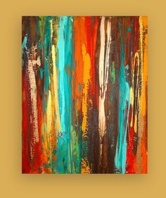 RESERVED. Art Painting Acrylic Abstract Original Titled: