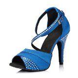 #5: Dayiss Damen Latein Schuhe Strass Tanzschuhe mit Absatz - Standard & Latein