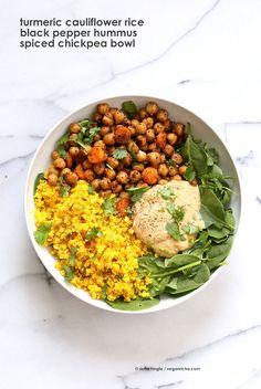 Turmeric Cauliflower Rice, Chickpeas, Black Pepper Hummus Bowl - Vegan RichaBloglovinFacebookGoogle InstagramPinterestRSSTwitterYouTube
