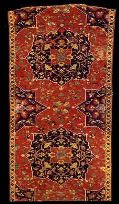 Star Ushak rug, XVI (16) century, Turkey, Ottoman Empire. Textile Museum, Washington DC