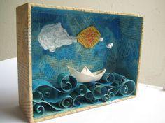 Meus trabalhos / Marcella Ferreira. El arte dentro de cajas de cartón.