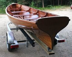 Whitehall traditional rowing boat that you can build!