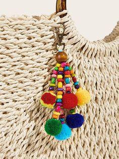 Paper Flowers Craft, Flower Crafts, Craft Stalls, Beaded Bookmarks, Estilo Hippie, Diy Tassel, Tassel Keychain, Creation Couture, Diy Arts And Crafts