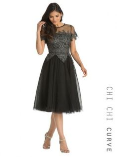 Chi Chi Clothing - Chi Chi Curve Frankie Dress - https://clickmylook.com/product/chi-chi-curve-frankie-dress/2944233