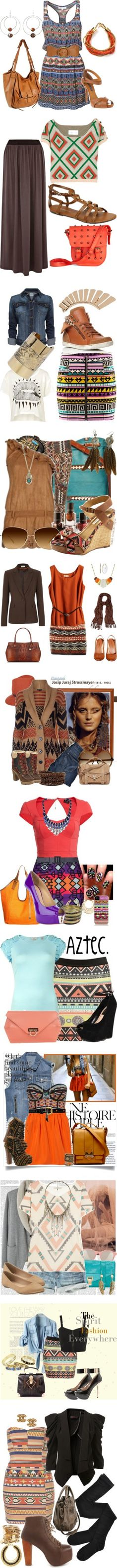 """Aztec Prints"" by randijasminephoto on Polyvore"