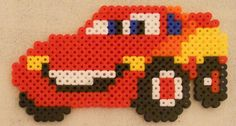 Lightening McQueen hama beads by Christine
