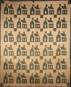"19TH C QUILT - Schoolhouse Cotton Quilt in blue and white, entirely handsewn, circa 1870, coastal Connecticut. With sleeve for hanging. 66"" x 80""."
