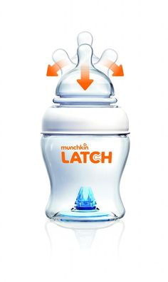 Great new bottle from Munchkin meant to ease the transition from breast to bottles. Or right to sippies.