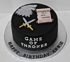 Game of Thrones Cake by Cecy Huezo. www.delightfulcakesbycecy.com Game Of Thrones Torte, Game Of Thrones Birthday Cake, Cake Cookies, Cupcake Cakes, Cupcakes, Engineering Cake, Dad Birthday Cakes, Got Party, Cake Games
