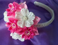 Floral Headband by KanzashiAccessories on Etsy