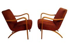 Armchairs Attributed to Thonet, Pair