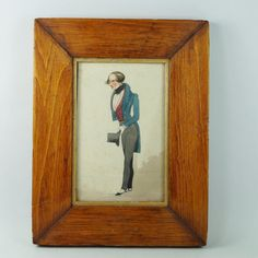 Early 19th Century Miniature Watercolor Portrait by OneBakerStreet
