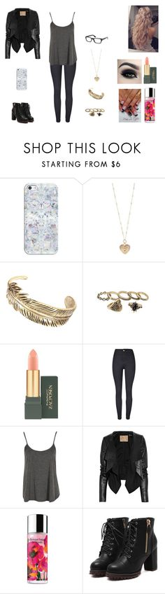 """""""The Fallen Savior #9"""" by jazmine-bowman on Polyvore featuring Casetify, Betsey Johnson, Too Faced Cosmetics, MAC Cosmetics, WithChic, Boohoo, Max Azria, Clinique and Tom Ford"""