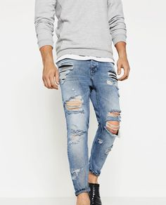 d02d34a203d Image 3 of SLIM FIT JEANS from Zara Ripped Skinny Jeans, Slim Jeans, Zara