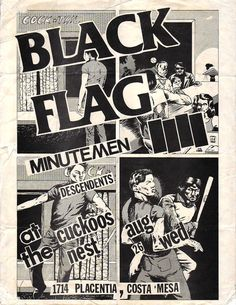 Pretty Much Every Single Black Flag Flyer Designed by Raymond Pettibon