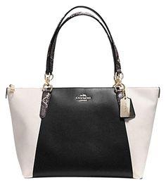bfcf80d6afa0 cheap Coach Ava Exotic Trim Chain Bicolor Leather 35891 36670 Gorgeous!!!  Black