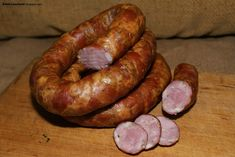 Polska Kielbasa, Kielbasa Sausage, Polish Recipes, Smoking Meat, Charcuterie, The Cure, Pork, Food And Drink, Cooking
