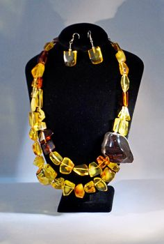 Ships from the USA. Massive! Amazing GENUINE Baltic AMBER Set Amber NECKLACE Amber by ANTIQUE4YOU