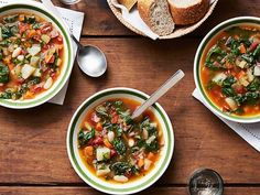 Giada's Winter Minestrone : Giada's minestrone makes use of vegetables that are available in winter.