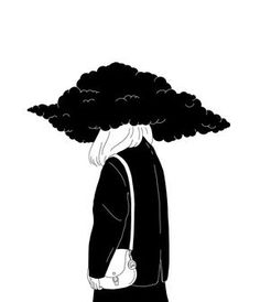 Simplified and sensitive black-and-white illustrations by Anna Macht - Fábio Luciano - # Fábio - - Illustration Artists, Illustrations, Drawing Sketches, Art Drawings, Deep Art, Sad Art, Black And White Illustration, Aesthetic Art, Aesthetic People
