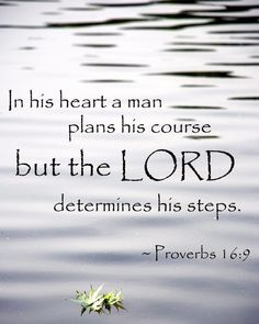 """""""Trust in the Lord with all thine heart; and lean not unto thine own understanding. In all thy ways acknowledge him, and he shall direct thy paths. Be not wise in thine own eyes: fear the Lord, and depart from evil. It shall be health to thy navel, and marrow to thy bones."""" Proverbs 3:5-8 KJV"""