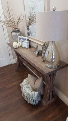 rustic farmhouse entryway table. by ModernRefinement on Etsy