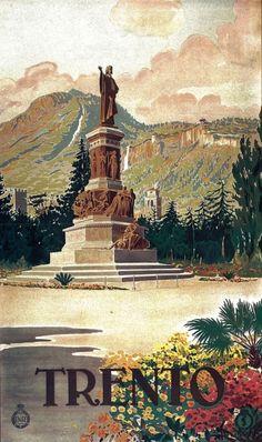 Manifesto pubblicitario (1930) - #Trento #Piazza #Dante