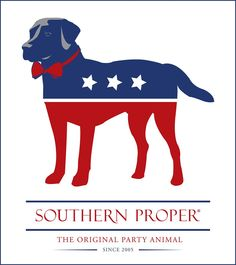 """The Original Party Animal"" Sticker by Southern Proper"