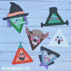 These Halloween Monster Arts and Crafts are the perfect way to celebrate the spooky holiday. With six characters in total Werewolf, Witch, Vampire, Jack-o-Lantern, Ghost, and Frankenstein's Monster there is something for every kiddo. And each of these crafts sticks to using the same master list of basic craft supplies that is used for EVERY project on the website. Each character takes about 15-20 minutes to make, and you are going to want to make the entire spooky collection! Free templates… Frankenstein's Monster, Halloween Crafts For Kids, Craft Stick Crafts, Werewolf, Craft Supplies, Craft Projects, Witch, Arts And Crafts, Holiday