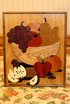 fruit bowl intarsia