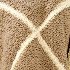 Faux Shearling Throw LW2167 | Free Patterns