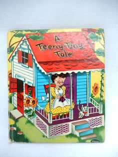 A Teeny Tiny Tale vintage children's book Whitman by brixiana