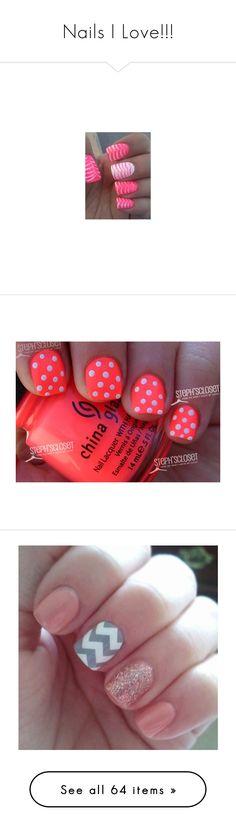"""Nails I Love!!!"" by lindseybarnes ❤ liked on Polyvore featuring beauty products, nail care, nails, nail treatments, makeup, nail art, nail polish, china glaze, beauty and unhas"