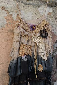 Summerstorm  bohemian shabby chic tunic by FleursBoheme on Etsy