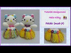 Tutorial amigurumi Hello Kitty - Falda (mod-7) - YouTube