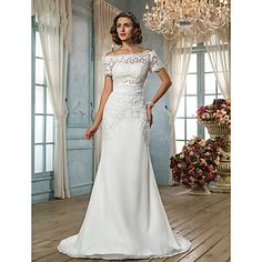 Lanting Bride® Trumpet / Mermaid Petite / Plus Sizes Wedding Dress - Classic
