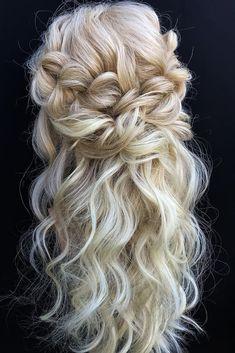 Boho Bridal Hair, Half Up Wedding Hair, Wedding Hairstyles Half Up Half Down, Long Hair Wedding Styles, Wedding Hairstyles For Long Hair, Wedding Hair And Makeup, Bride Hairstyles, Down Hairstyles, Long Hair Styles